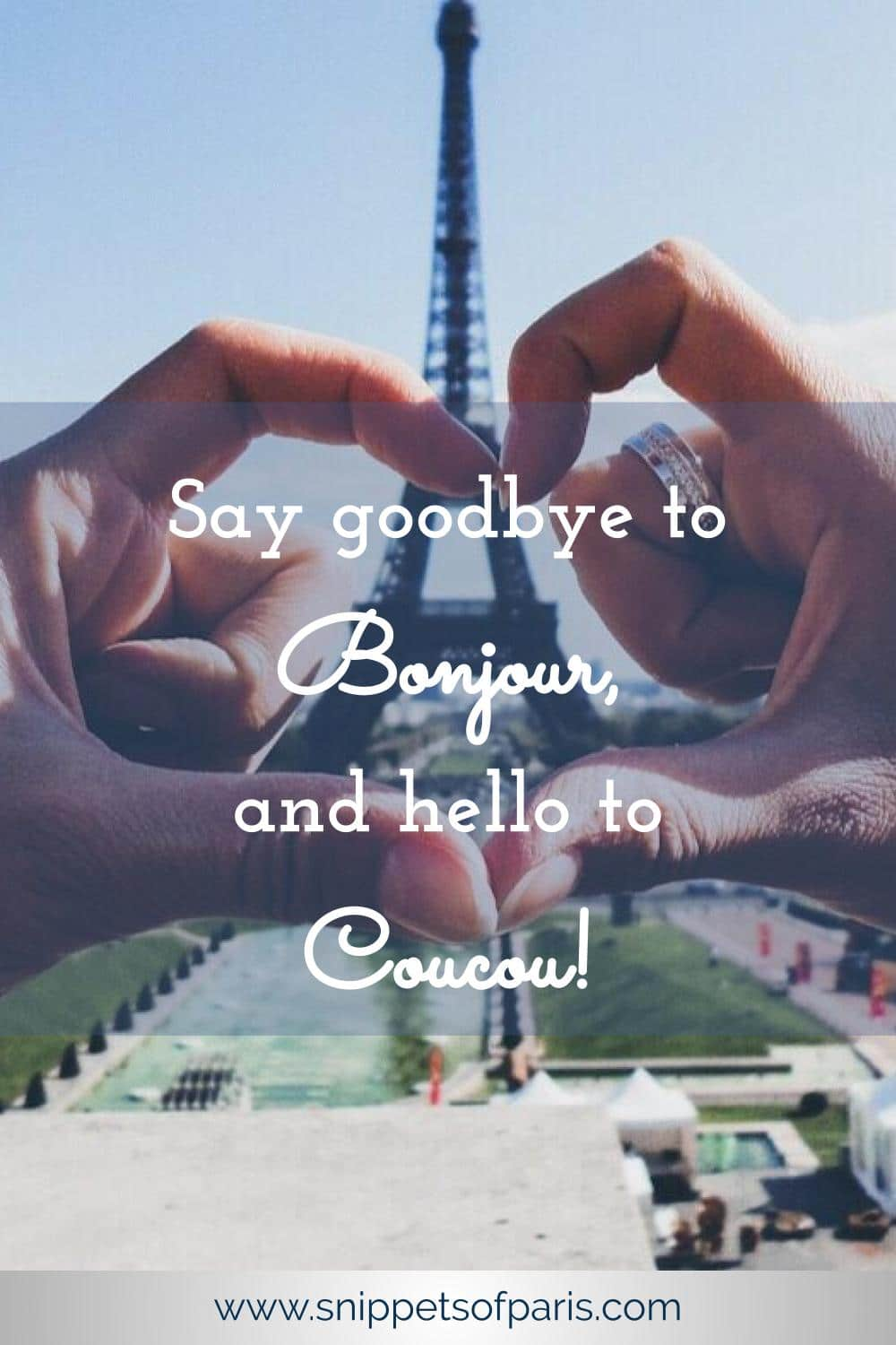 """The one French word to give you a warm fuzzy feeling: Coucou!. French slang meaning bonjour or hello, but in an informal """"my darling"""" kind of way. #France #learnfrench"""