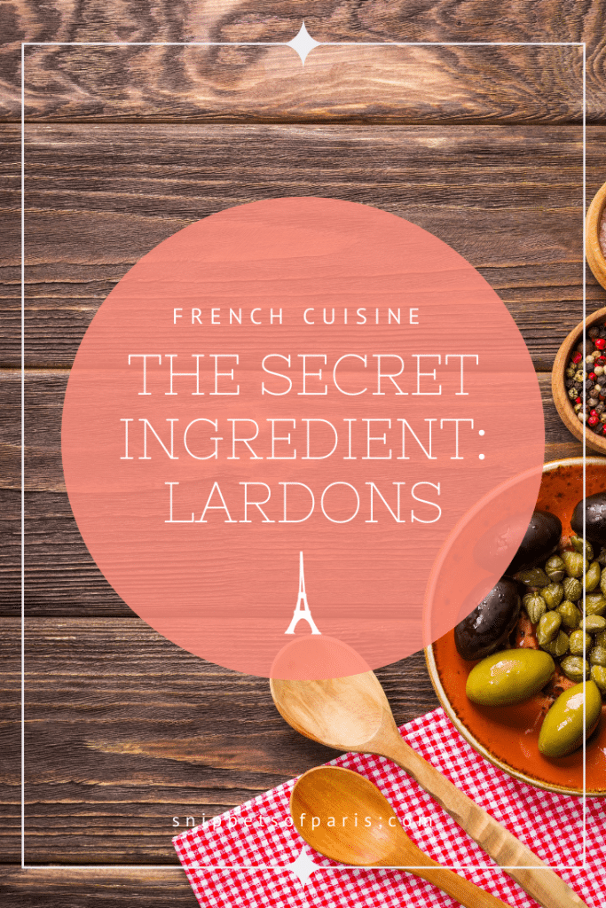 Lardons pin for pinterest