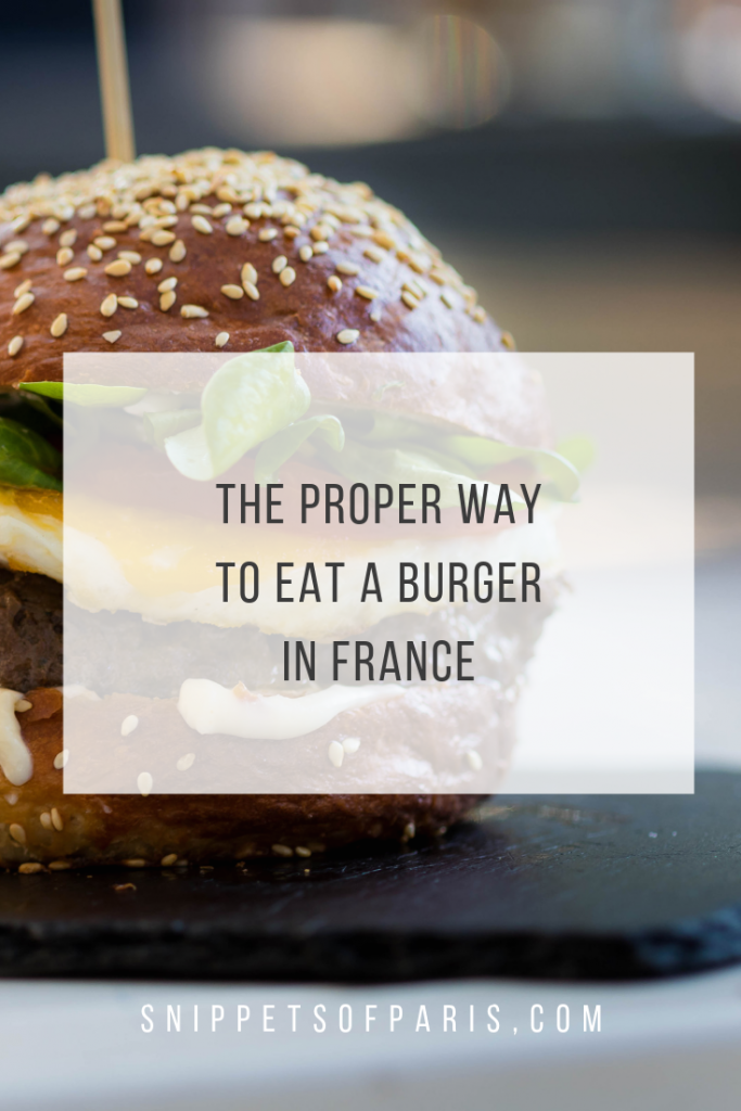 French Dining: Eating a burger with a fork 1
