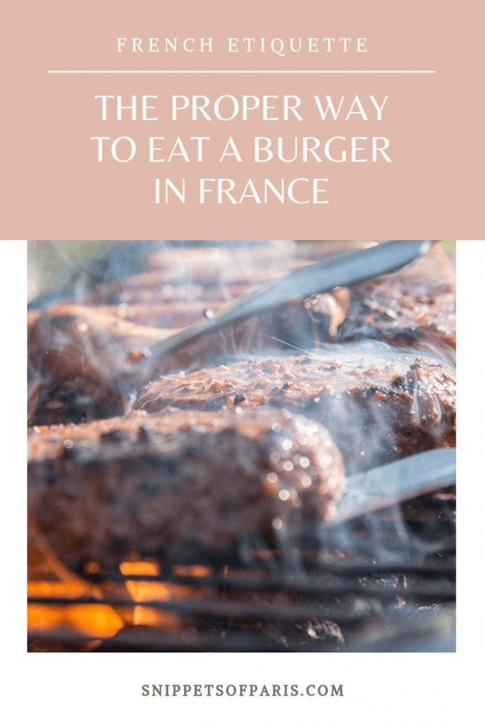 French Dining: Eating a burger with a fork 2