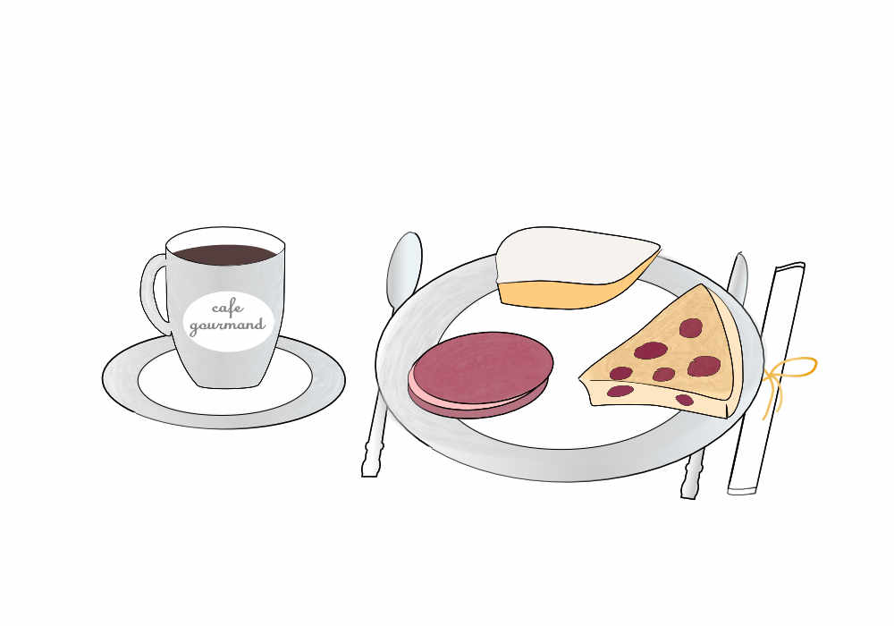 cafe gourmand illustration
