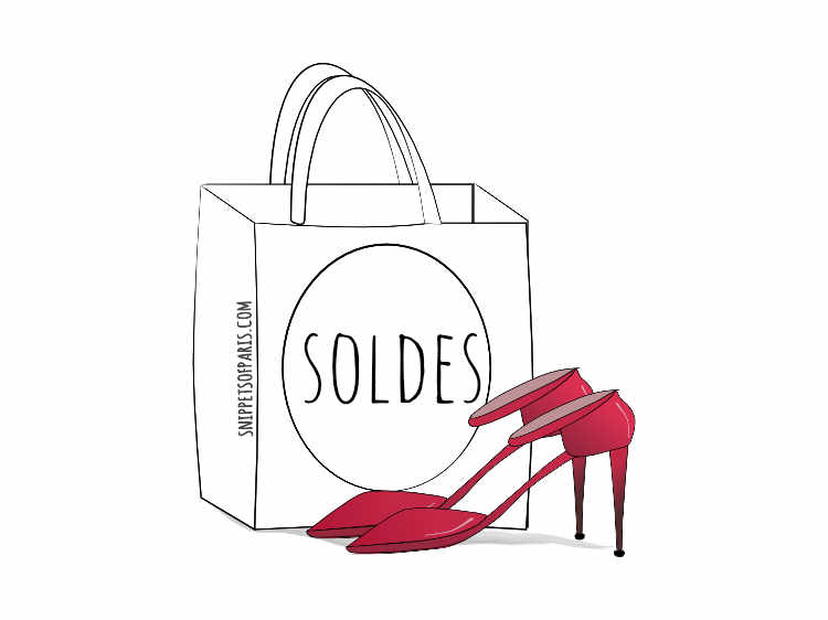 winter sales soldes shoes illustration