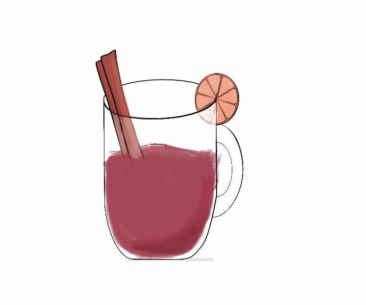 vin chaud illustration