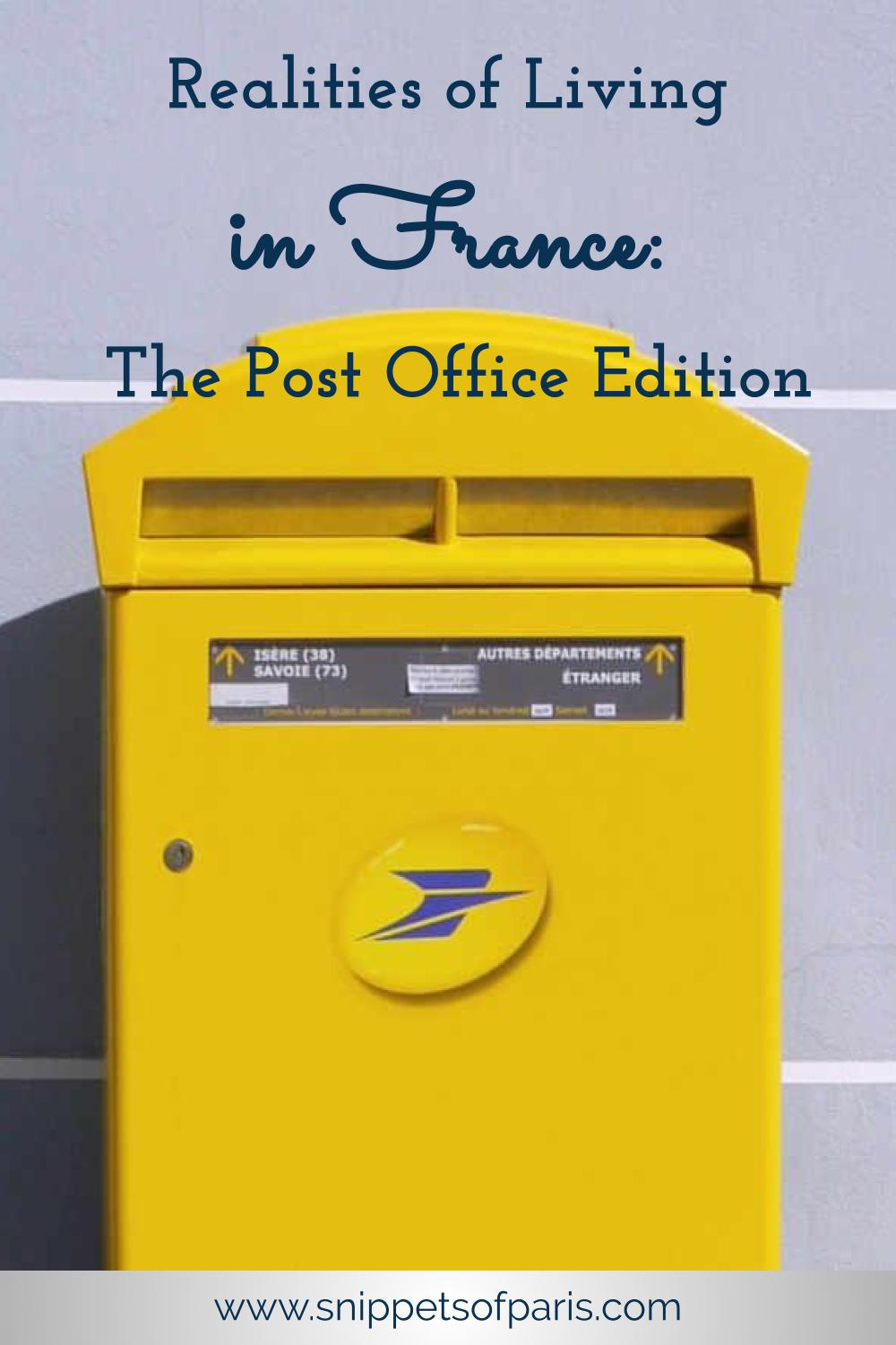 The French Post Office: Learning to love paperwork