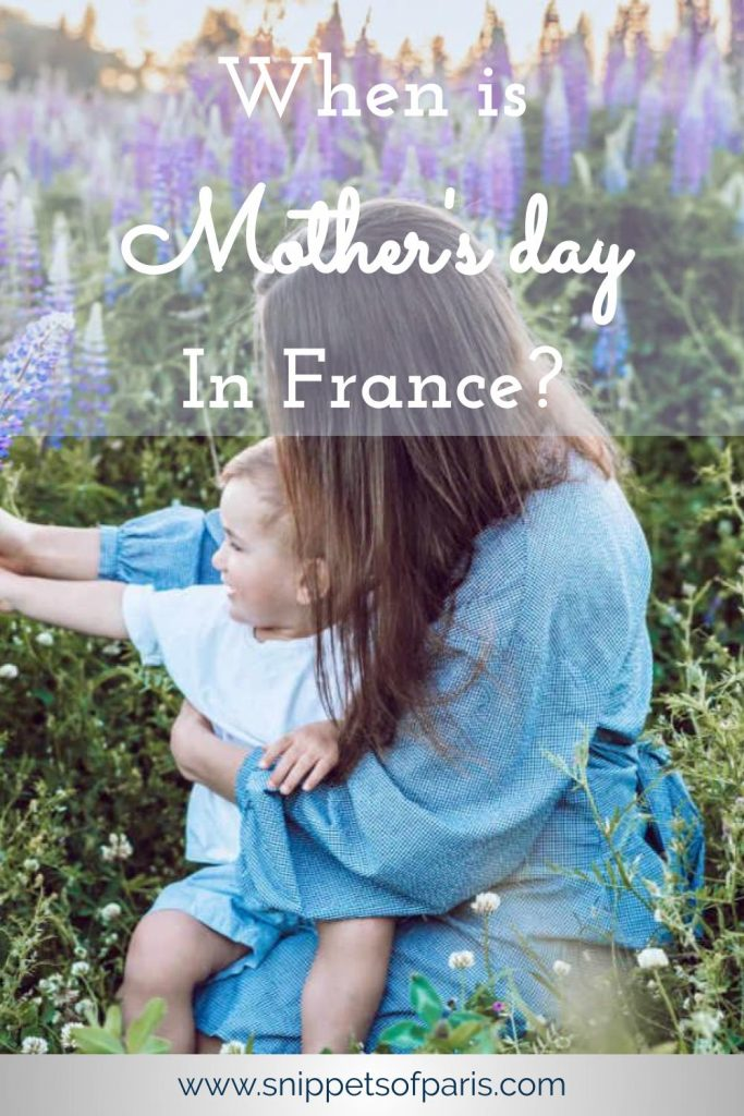 Mother's day in France pin for pinterest