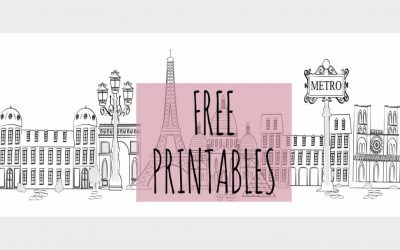 Free French Printables for download!