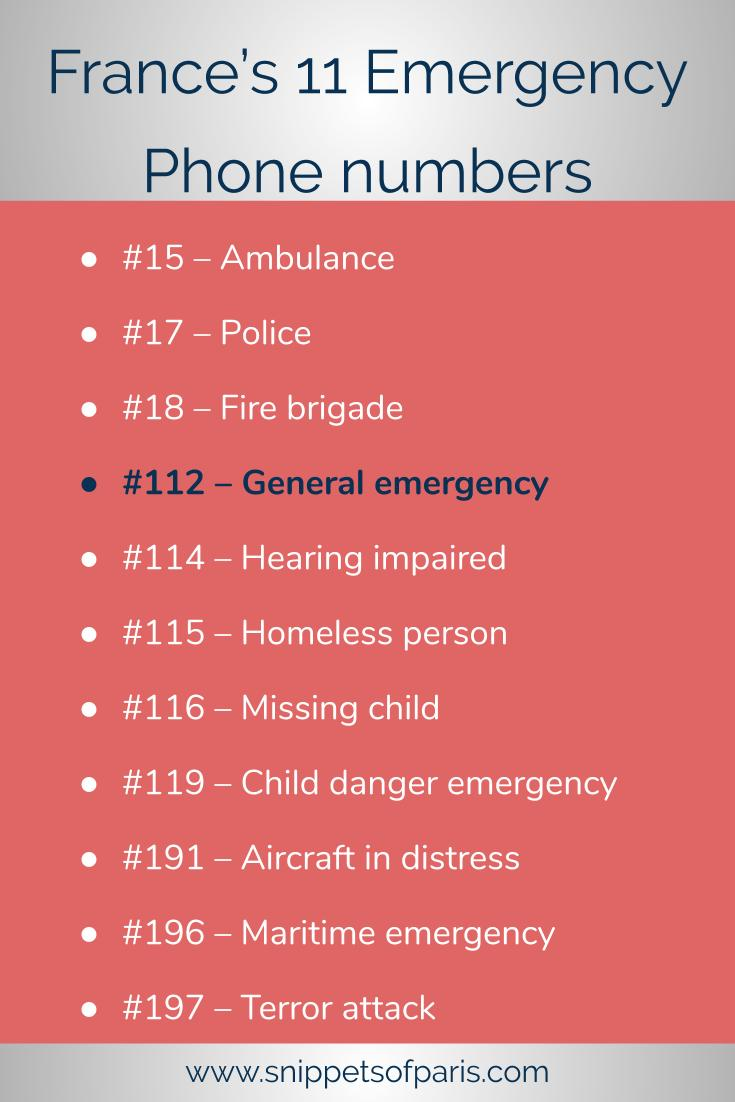 Don\'t panic, but there are 11 emergency numbers in France. So here is who you need to call in an emergency. Pin this page just in case! #france