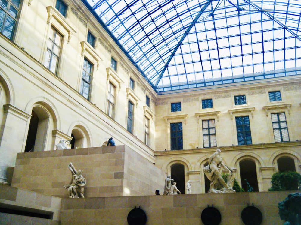 Courtyard inside Louvre Museum