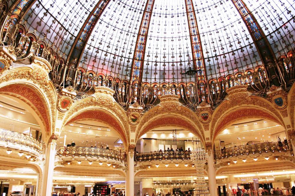 Inside Galerie Lafayette near Opéra, Paris