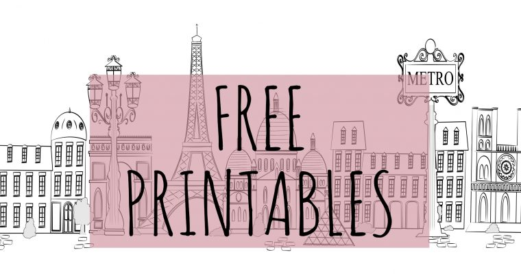 Free French-English Printables for download!