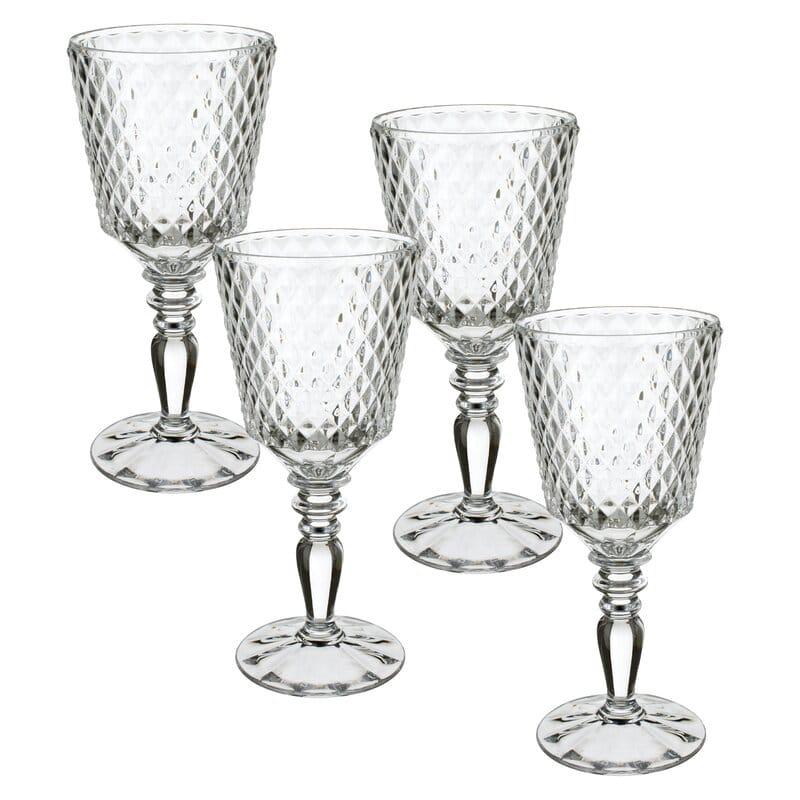 Claret 8 oz. Crystal Stemmed Wine Glass (Set of 4)