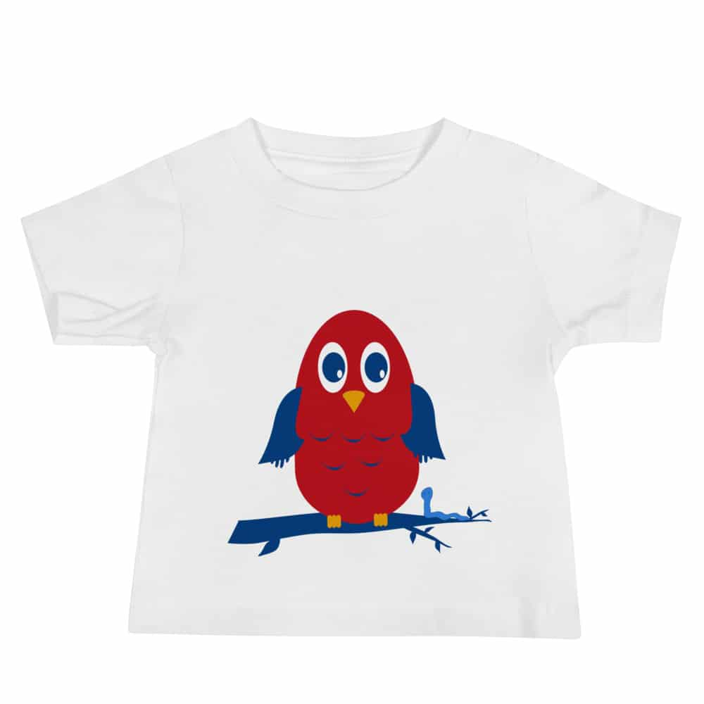 Red and and blue Owl Children's T-shirt