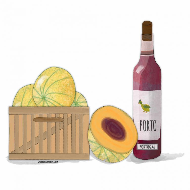 The perfect French Summer starter: Melon au Porto