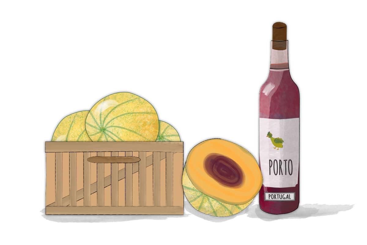 The perfect French Summer starter:  Melon au Porto (Recipe)