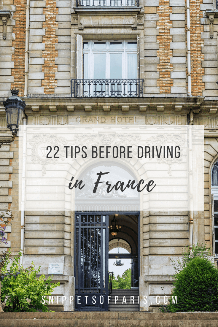 24 things you should know before Driving in France