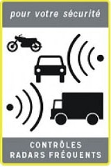 Sign for Radar alert on French Roads