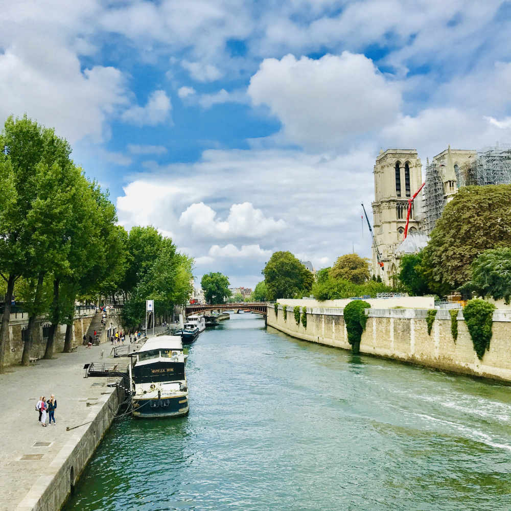 Notre Dame de Paris Cathedral - View from the bridge at the back