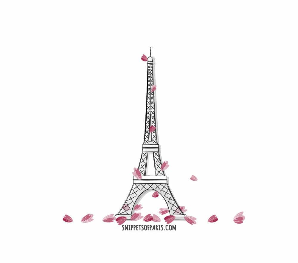 valentines day paris illustration