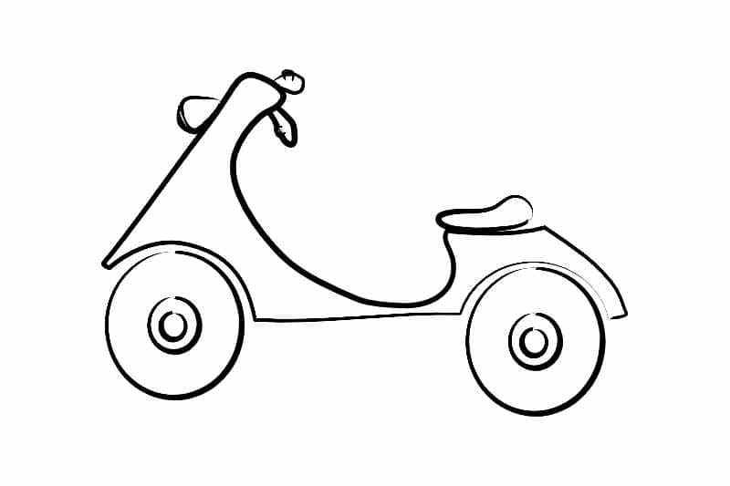 Illustration of a vintage Scooter