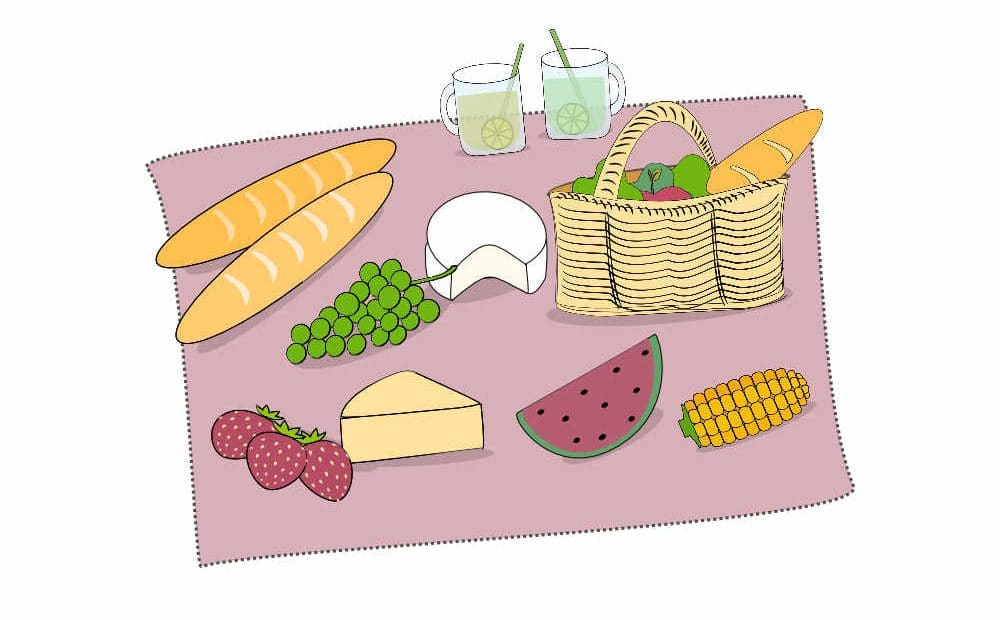 Illustration of Picnic apéro in Paris