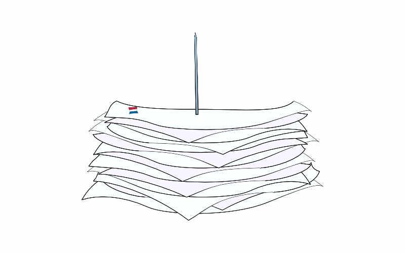 illustration of french bureaucracy