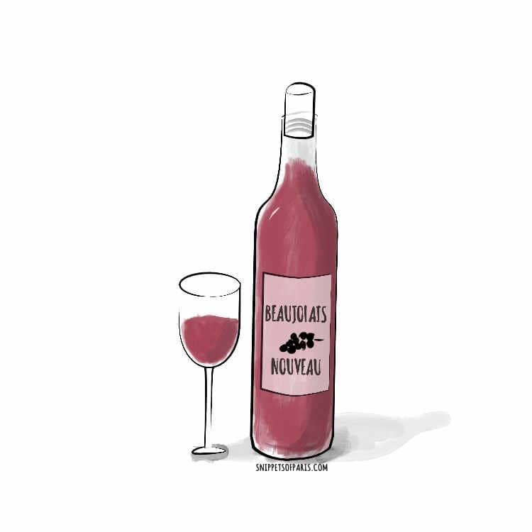 beaujolais nouveau wine illustration