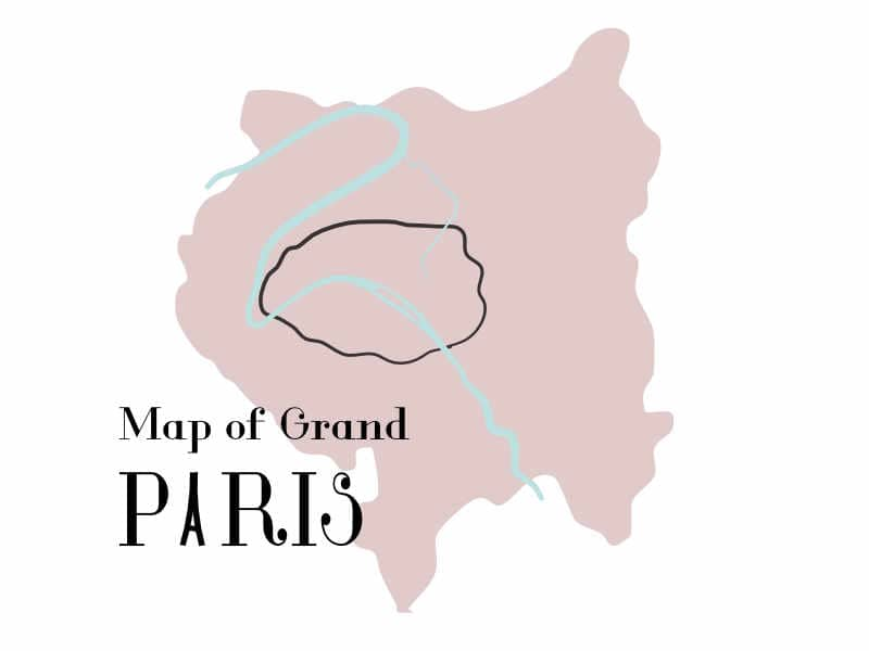 Illustrated map of Grand Paris Area