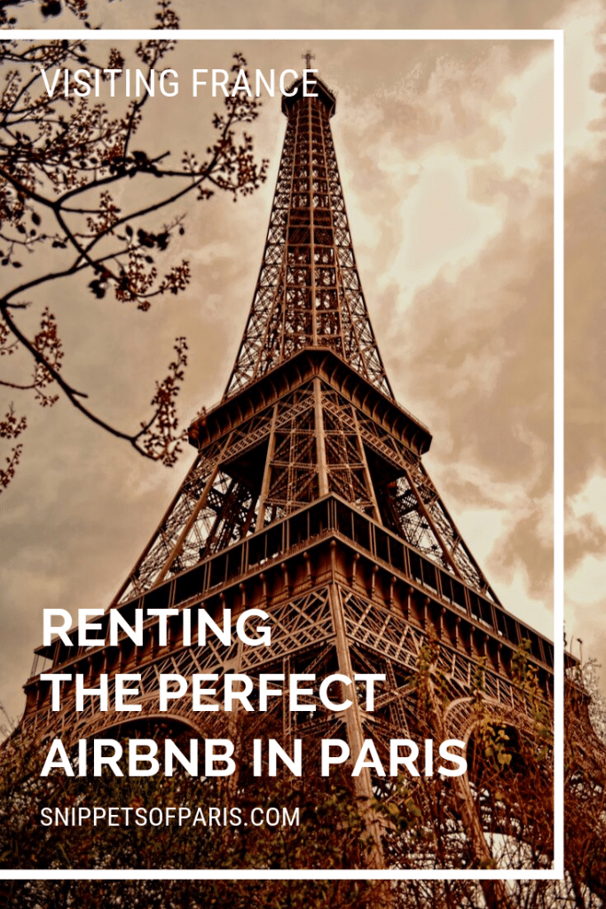 Airbnb in Paris pin for pinterest