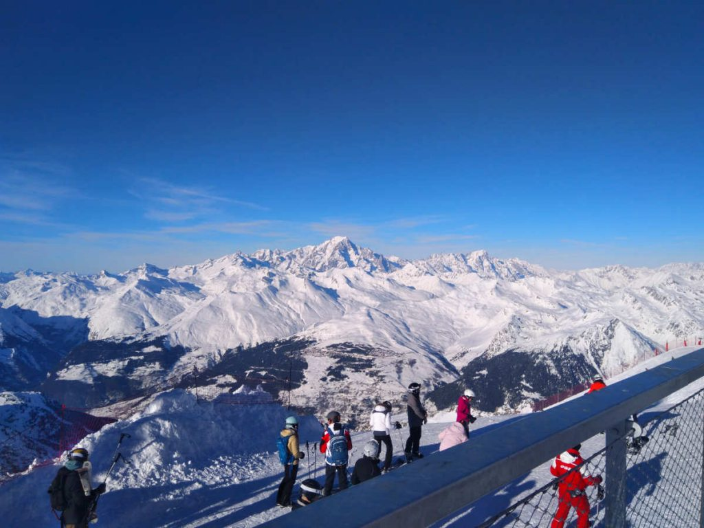 Mont Blanc in France - skiing in the French alps