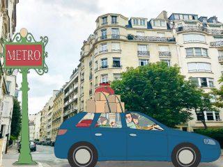 Parisian family moving to suburbs