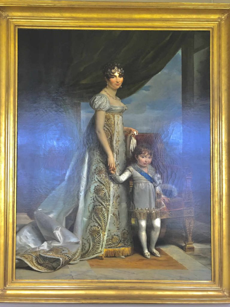 Step-daughter of Napoleon Bonaparte, Hortense de Beauharnais, Queen of Holland, and her son Napoleon-Louis