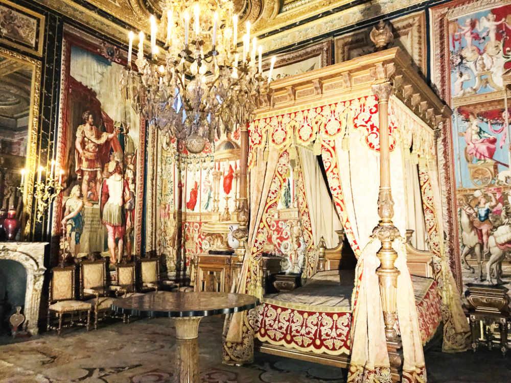 Inside Chateau de Fontainebleau