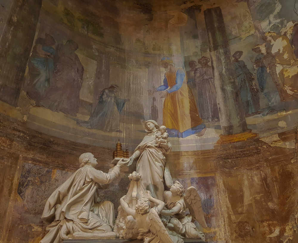 Inside Notre Dame de Boulogne-sur-mer Cathedral