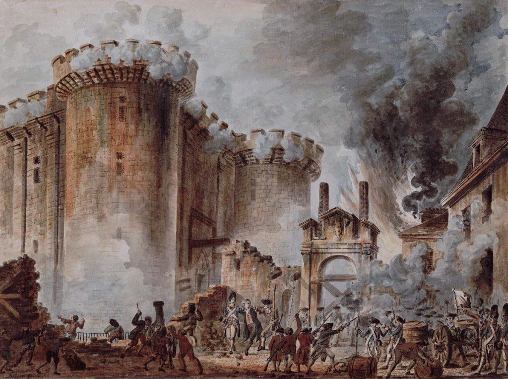 French protests - Revolution at Bastille