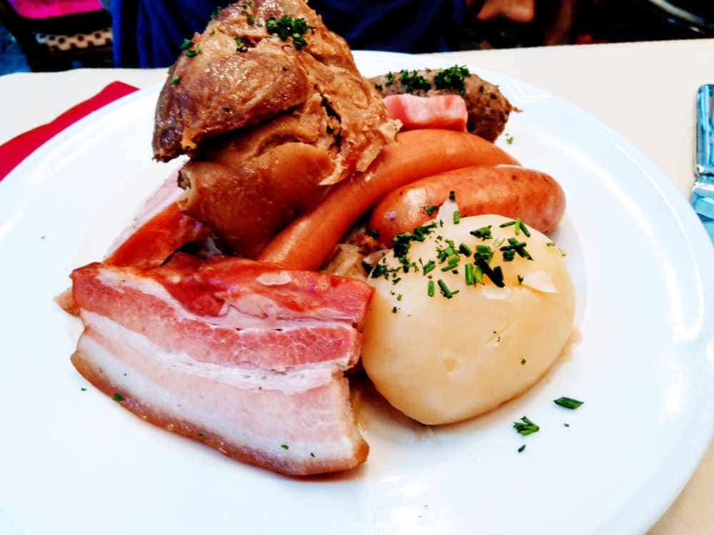 Sausages and Choucroute in Strasbourg