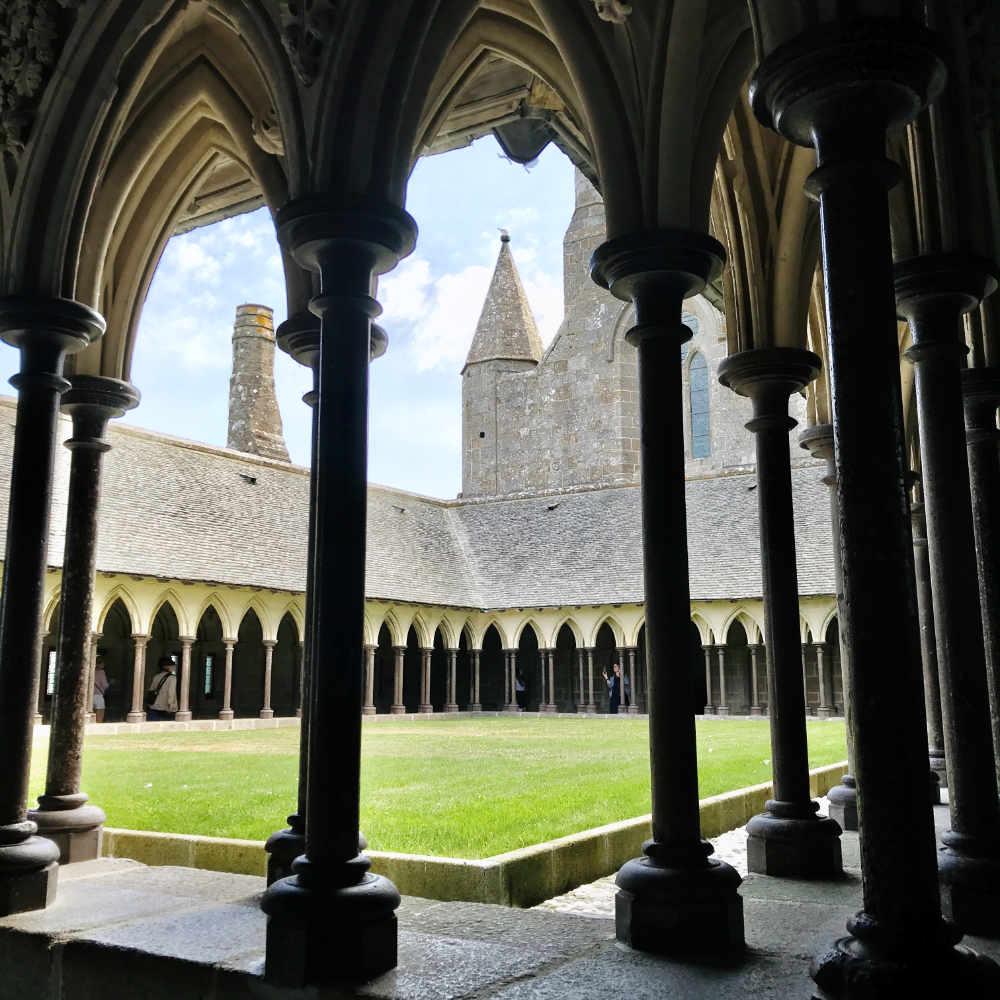 Inside the Abbey at Mont Saint Michel