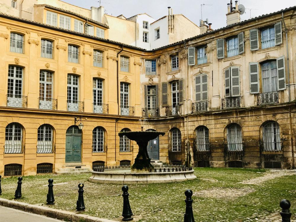 Aix en Provence Building courtyard