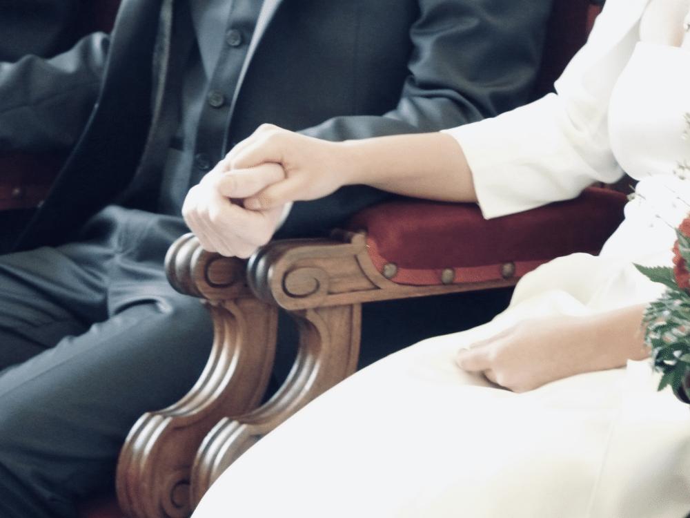 Civil ceremony in France