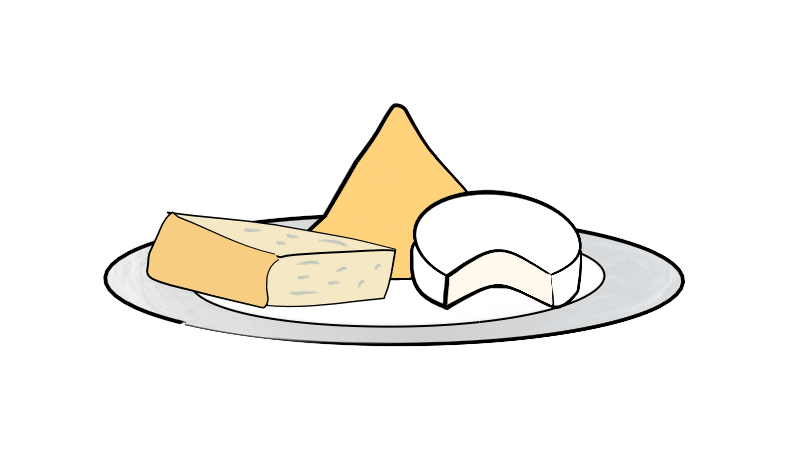 cheese dish illustration