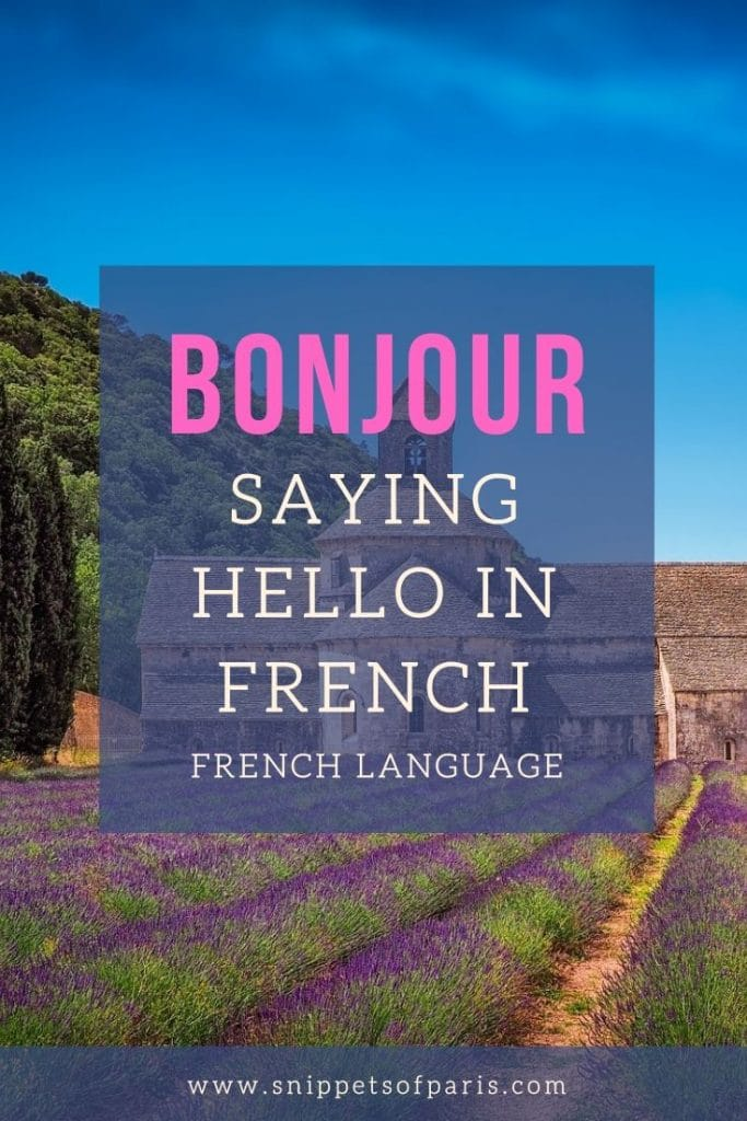 How to Say Hello in French? pin