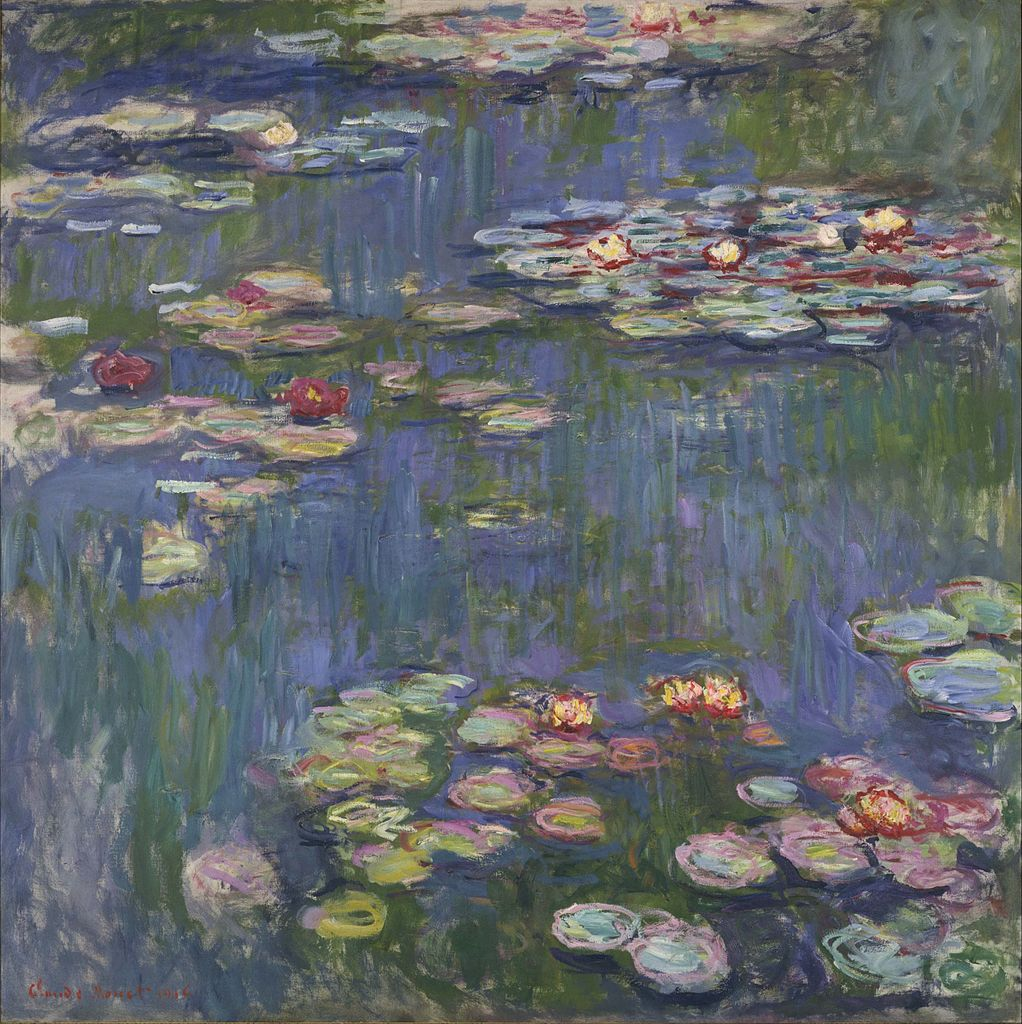 The famous Waterlilies at Giverny by Claude Monet
