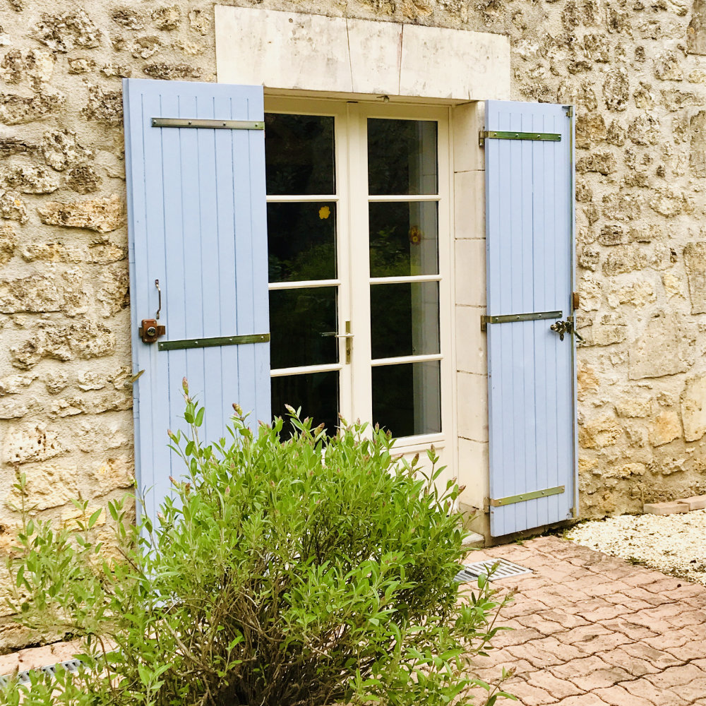 shutters on a house in france