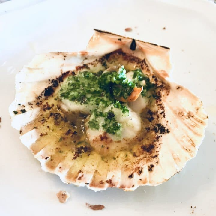 Recipe for Coquilles St Jacques au Pesto