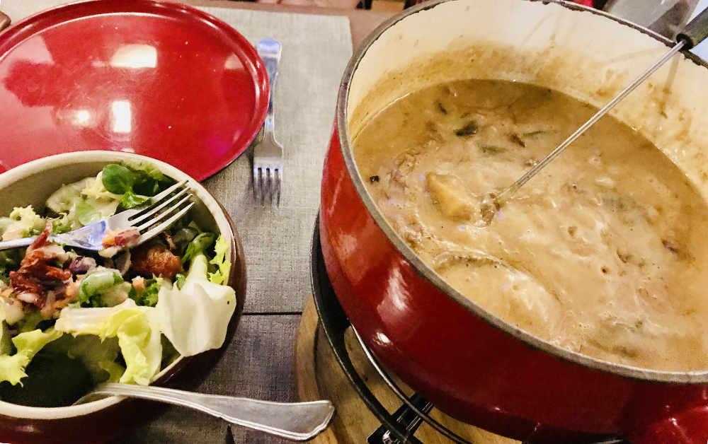 fondue in Serre Chevalier