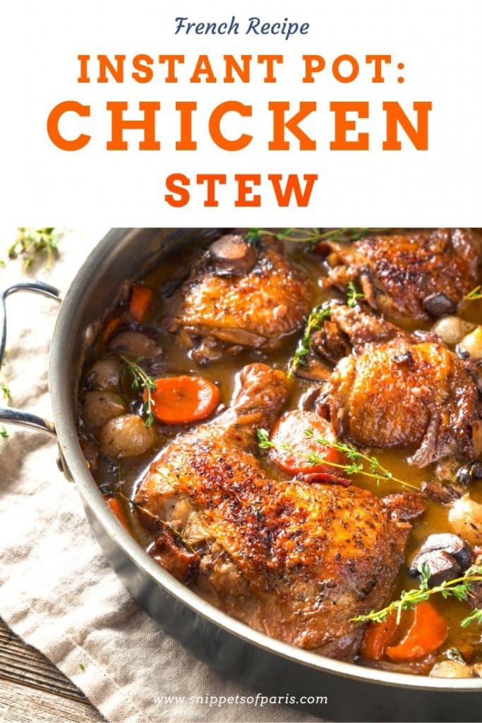 Coq au vin chicken stew