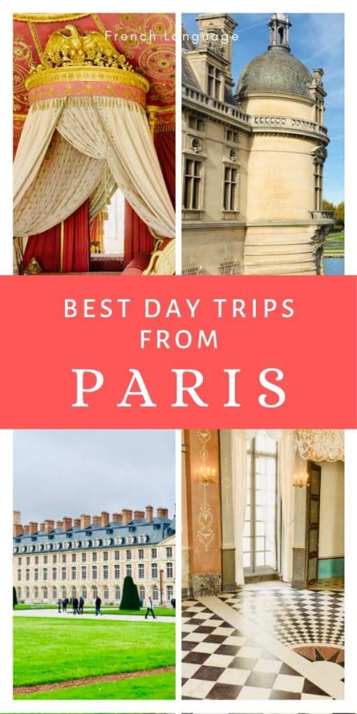 Best day trips from Paris pin