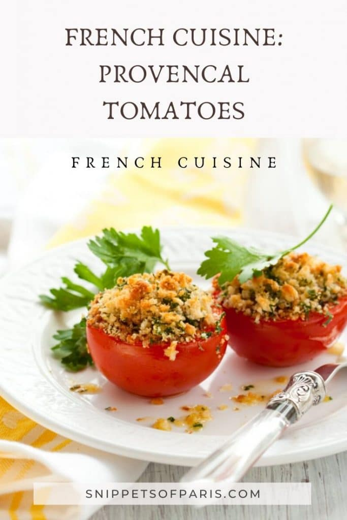 French provencale tomatoes pin for pinterest