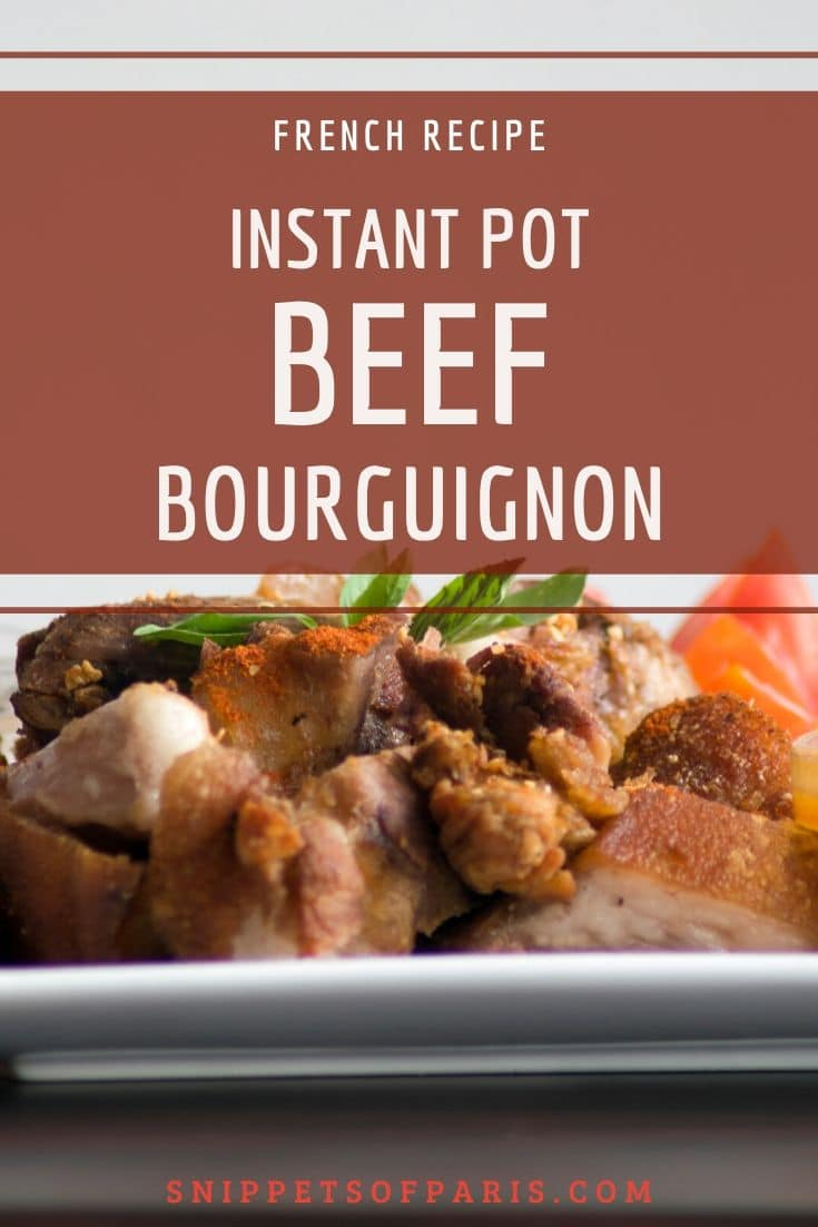 Beef Bourguignon Recipe in Instant Pot: The French Stew