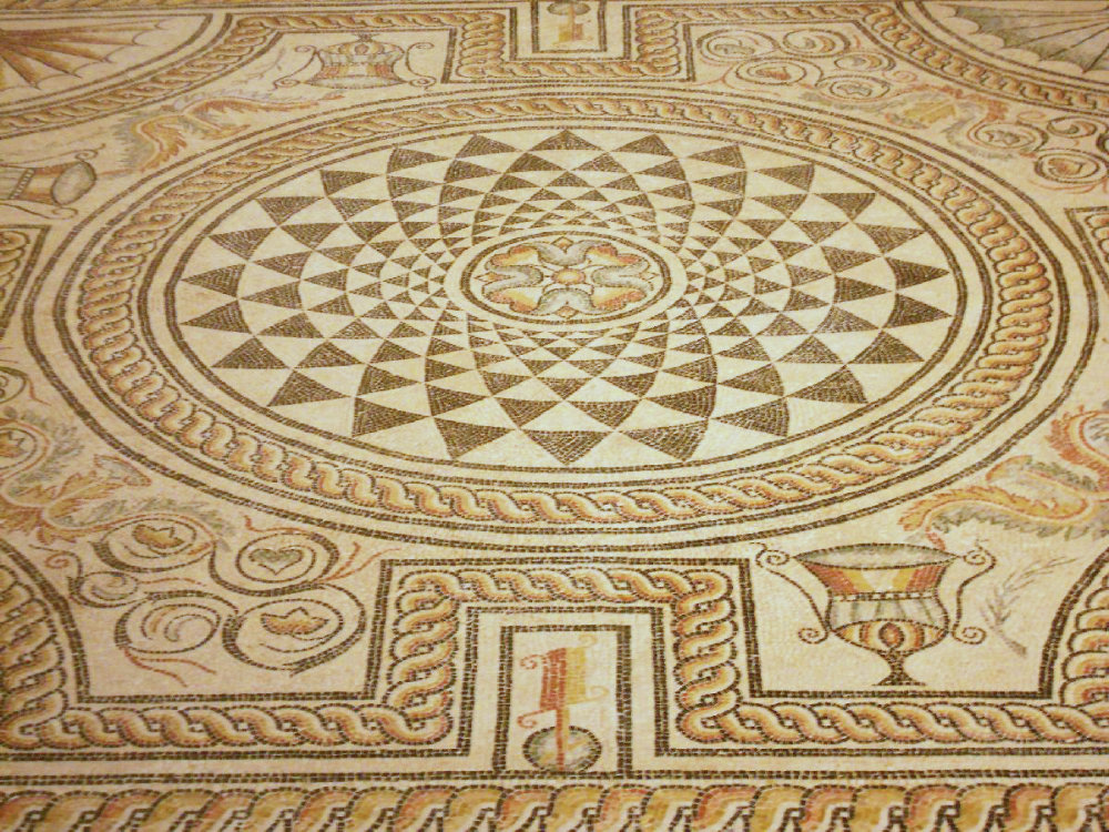 Lyon Ancient mosaic at the Gallo-Roman museum