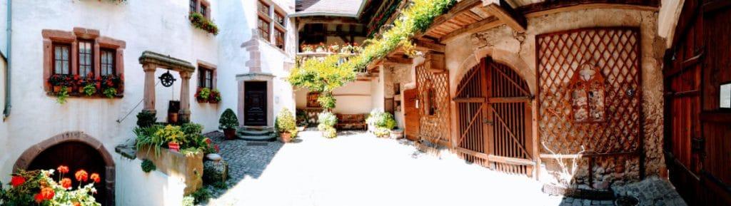 Colmar France Courtyard